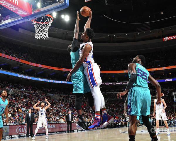 Nba Pro Basketball Poster featuring the photograph Joel Embiid by Jesse D. Garrabrant