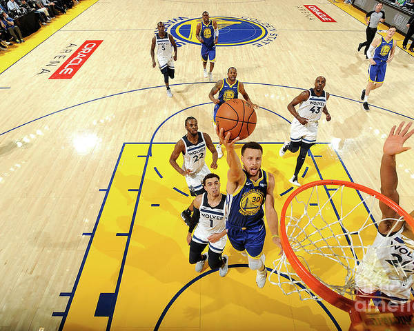 Nba Pro Basketball Poster featuring the photograph Stephen Curry by Noah Graham
