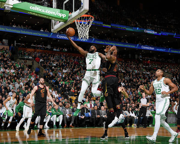 Nba Pro Basketball Poster featuring the photograph Jaylen Brown by Brian Babineau