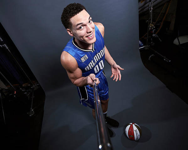 Event Poster featuring the photograph Aaron Gordon by Jennifer Pottheiser