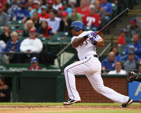 Adrian Beltre Poster featuring the photograph Adrian Beltre by Ronald Martinez