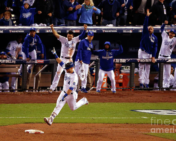Ninth Inning Poster featuring the photograph Alex Gordon by Christian Petersen