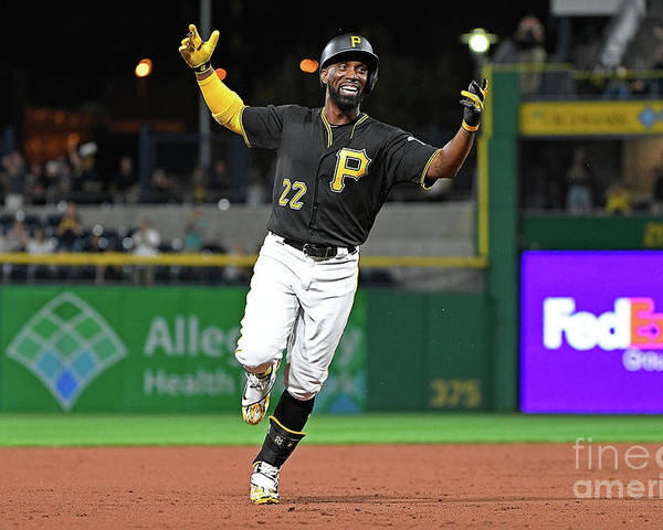 Second Inning Poster featuring the photograph Andrew Mccutchen by Justin Berl