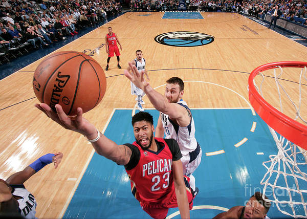 Nba Pro Basketball Poster featuring the photograph Anthony Davis by Glenn James