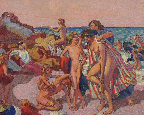 Mythology Poster featuring the painting Bacchus and Ariadne by Maurice Denis