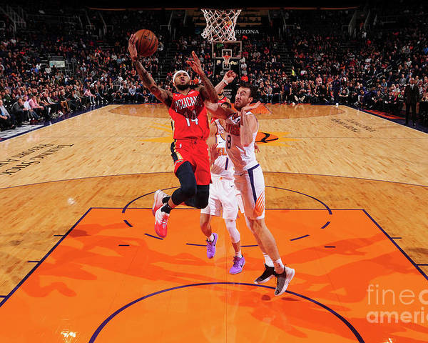 Nba Pro Basketball Poster featuring the photograph Brandon Ingram by Barry Gossage
