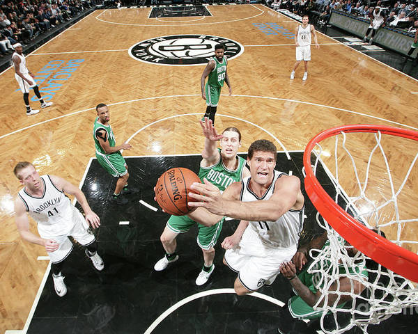 Nba Pro Basketball Poster featuring the photograph Brook Lopez by Nathaniel S. Butler