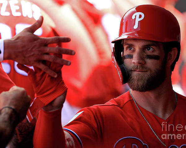 People Poster featuring the photograph Bryce Harper by Mike Ehrmann