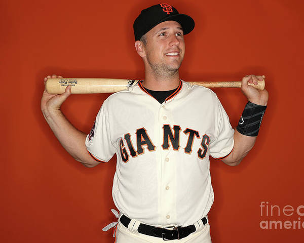 Media Day Poster featuring the photograph Buster Posey by Patrick Smith