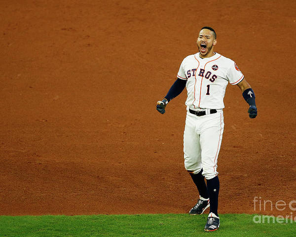 Game Two Poster featuring the photograph Carlos Correa by Bob Levey