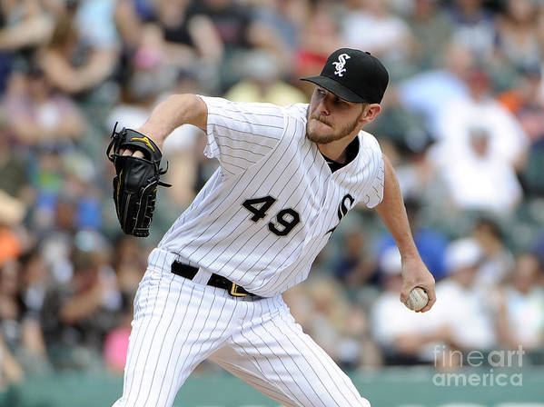 Three Quarter Length Poster featuring the photograph Chris Sale by David Banks