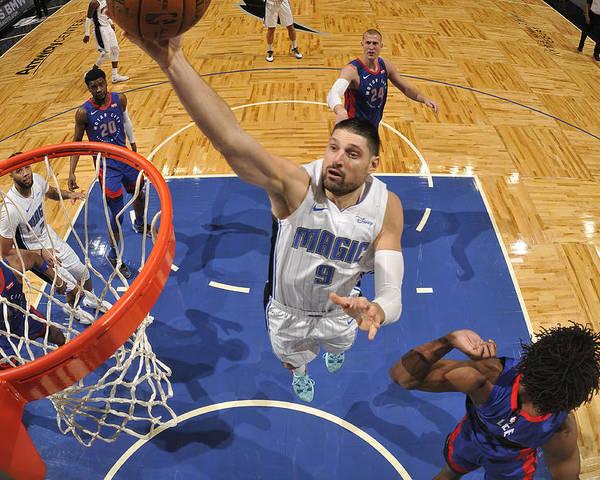 Nba Pro Basketball Poster featuring the photograph Detroit Pistons v Orlando Magic by Fernando Medina