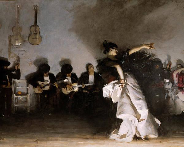 John Singer Sargent Poster featuring the painting El Jaleo by John Singer Sargent
