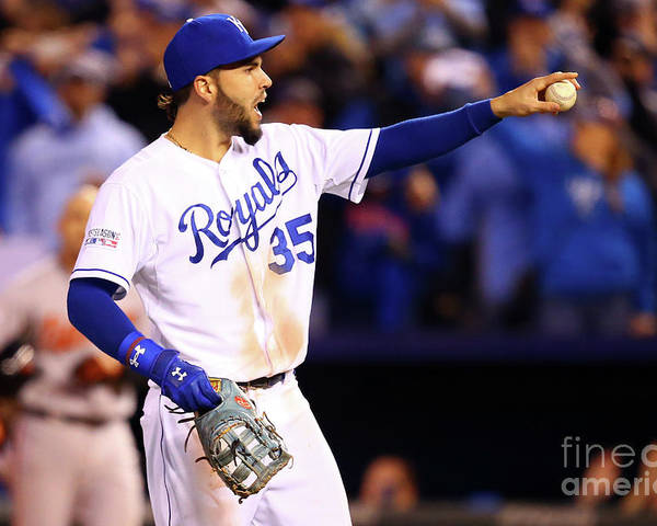 People Poster featuring the photograph Eric Hosmer by Dilip Vishwanat