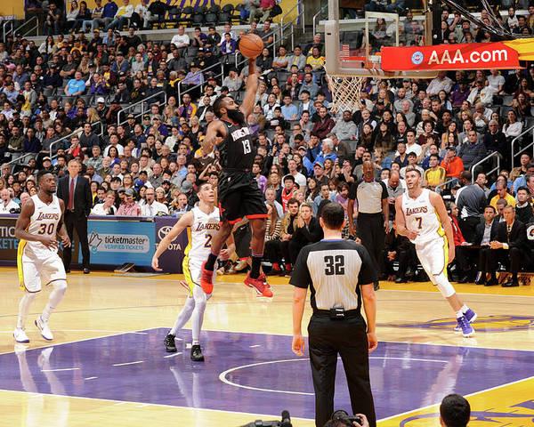 Nba Pro Basketball Poster featuring the photograph James Harden by Adam Pantozzi