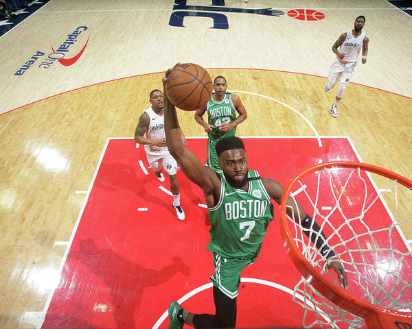Nba Pro Basketball Poster featuring the photograph Jaylen Brown by Ned Dishman