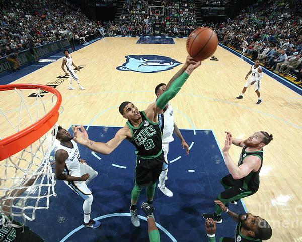 Nba Pro Basketball Poster featuring the photograph Jayson Tatum by Joe Murphy