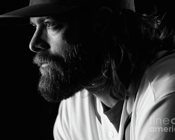 Media Day Poster featuring the photograph Jayson Werth by Chris Trotman