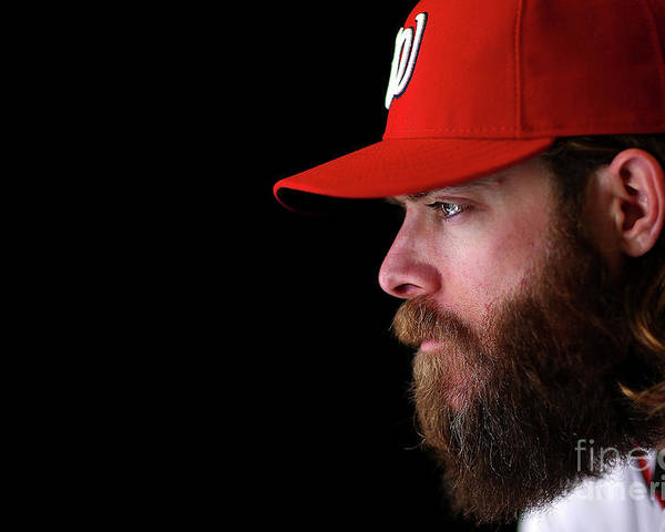 Media Day Poster featuring the photograph Jayson Werth by Mike Ehrmann
