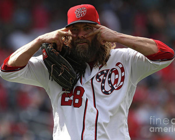People Poster featuring the photograph Jayson Werth by Patrick Smith
