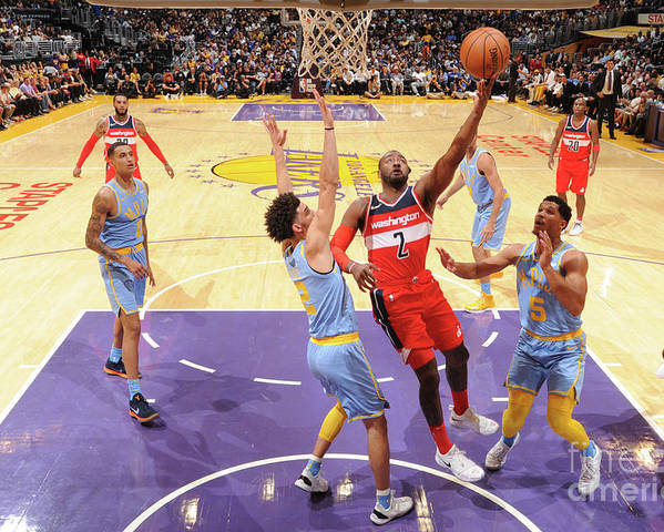 Nba Pro Basketball Poster featuring the photograph John Wall by Andrew D. Bernstein