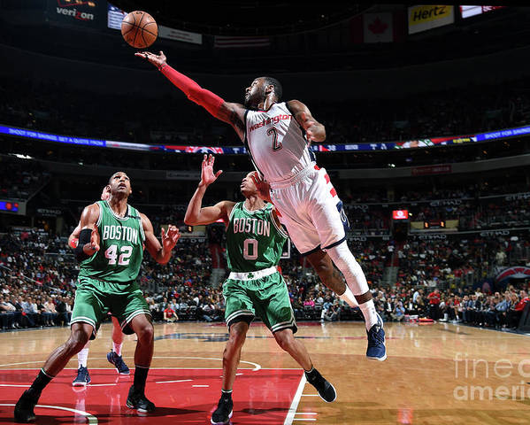 Playoffs Poster featuring the photograph John Wall by Brian Babineau