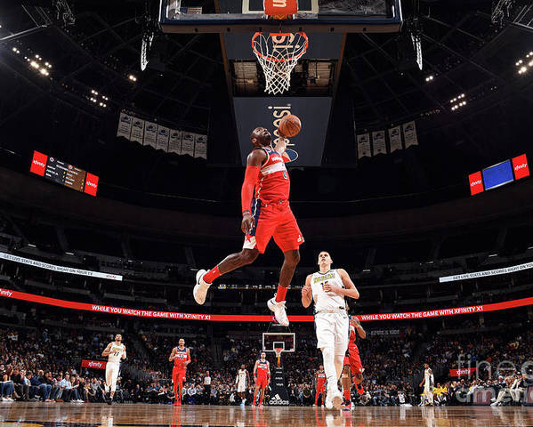 Nba Pro Basketball Poster featuring the photograph John Wall by Garrett Ellwood