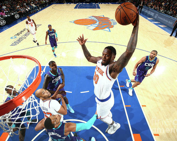 Nba Pro Basketball Poster featuring the photograph Julius Randle by Nathaniel S. Butler