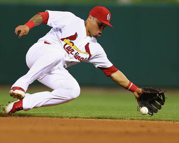 St. Louis Cardinals Poster featuring the photograph Kolten Wong by Dilip Vishwanat