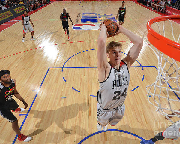 Chicago Bulls Poster featuring the photograph Lauri Markkanen by David Dow