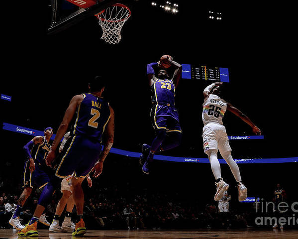 Nba Pro Basketball Poster featuring the photograph Lebron James by Bart Young