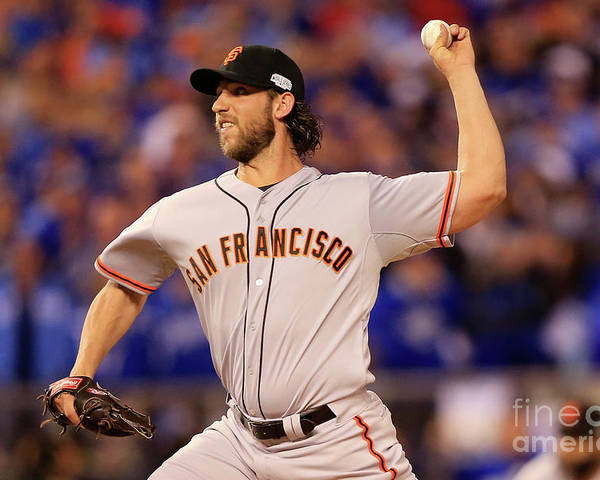 People Poster featuring the photograph Madison Bumgarner by Jamie Squire