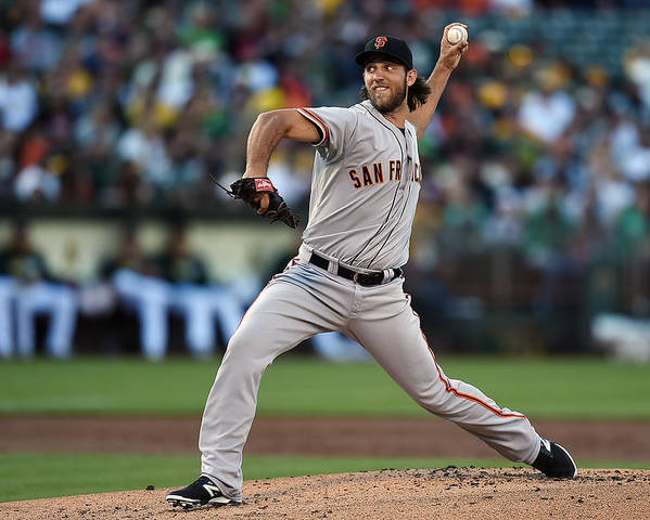 American League Baseball Poster featuring the photograph Madison Bumgarner by Thearon W. Henderson