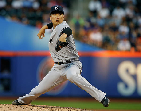 Second Inning Poster featuring the photograph Masahiro Tanaka by Rich Schultz
