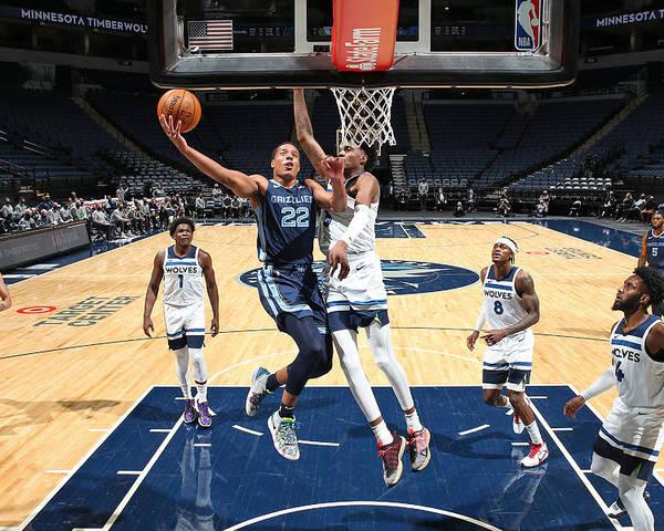 Nba Pro Basketball Poster featuring the photograph Memphis Grizzlies v Minnesota Timberwolves by David Sherman
