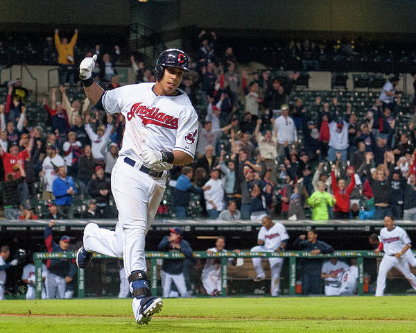 American League Baseball Poster featuring the photograph Michael Brantley by Jason Miller