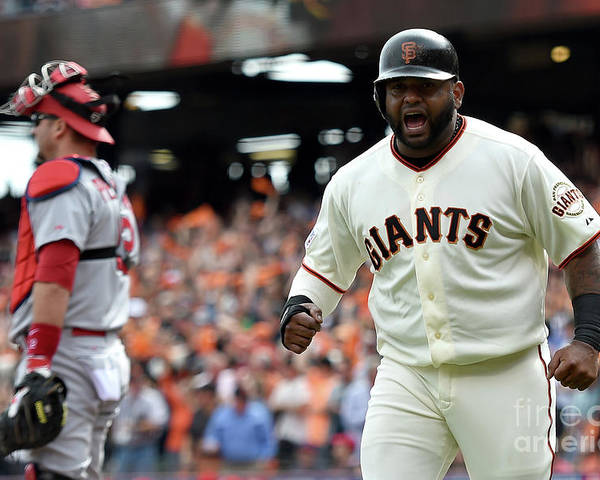 Playoffs Poster featuring the photograph Pablo Sandoval by Thearon W. Henderson