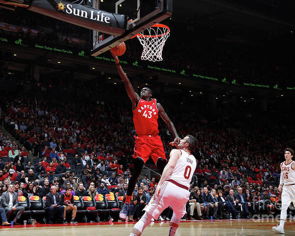 Nba Pro Basketball Poster featuring the photograph Pascal Siakam by Mark Blinch