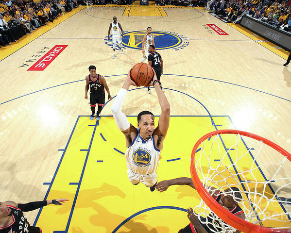 Playoffs Poster featuring the photograph Shaun Livingston by Nathaniel S. Butler
