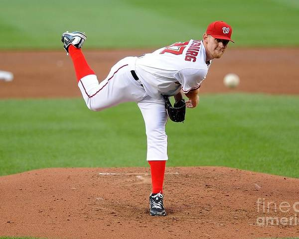 Stephen Strasburg Poster featuring the photograph Stephen Strasburg by G Fiume