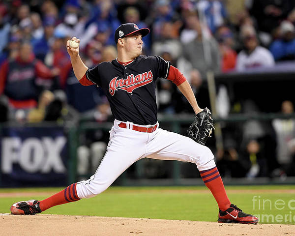 Game Two Poster featuring the photograph Trevor Bauer by Jason Miller