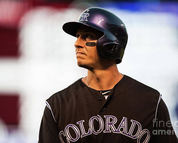 People Poster featuring the photograph Troy Tulowitzki by Dustin Bradford