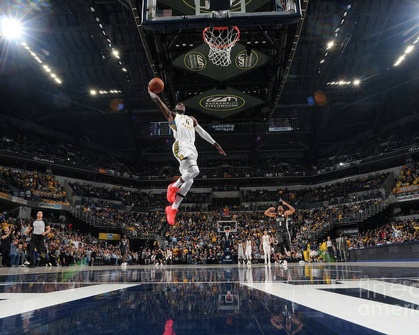 Nba Pro Basketball Poster featuring the photograph Victor Oladipo by Ron Hoskins