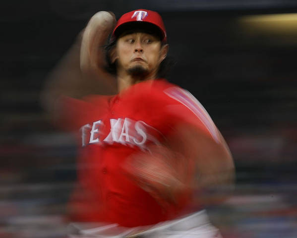 Game Two Poster featuring the photograph Yu Darvish by Ronald Martinez