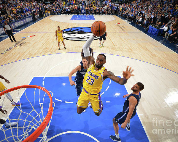 Nba Pro Basketball Poster featuring the photograph Lebron James by Jesse D. Garrabrant