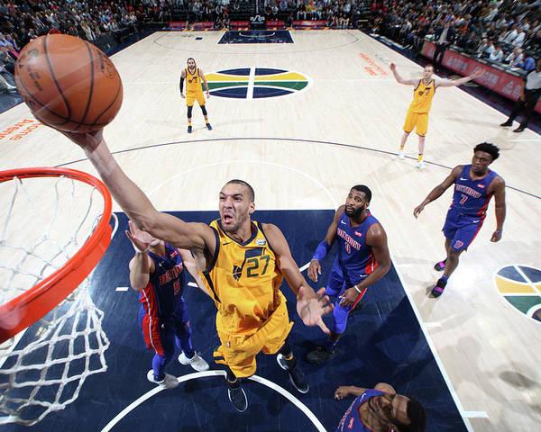 Nba Pro Basketball Poster featuring the photograph Rudy Gobert by Melissa Majchrzak