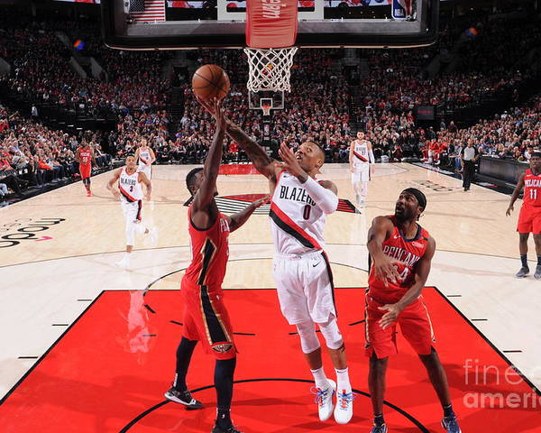 Nba Pro Basketball Poster featuring the photograph Damian Lillard by Sam Forencich
