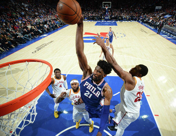 Description Poster featuring the photograph Joel Embiid by Jesse D. Garrabrant