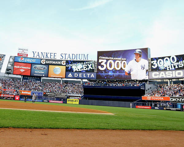 People Poster featuring the photograph Alex Rodriguez by Al Bello