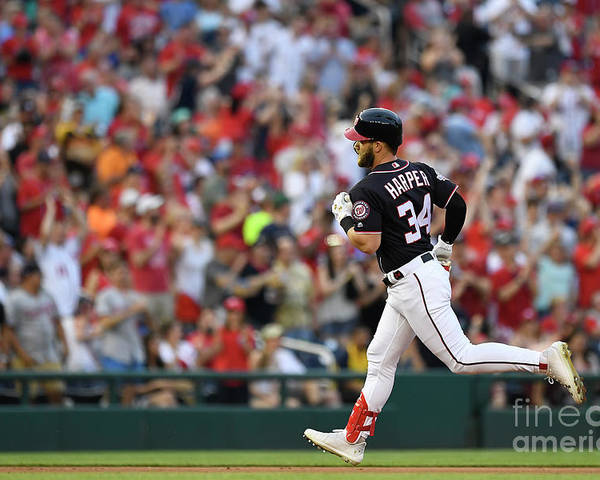 People Poster featuring the photograph Bryce Harper by Patrick Mcdermott